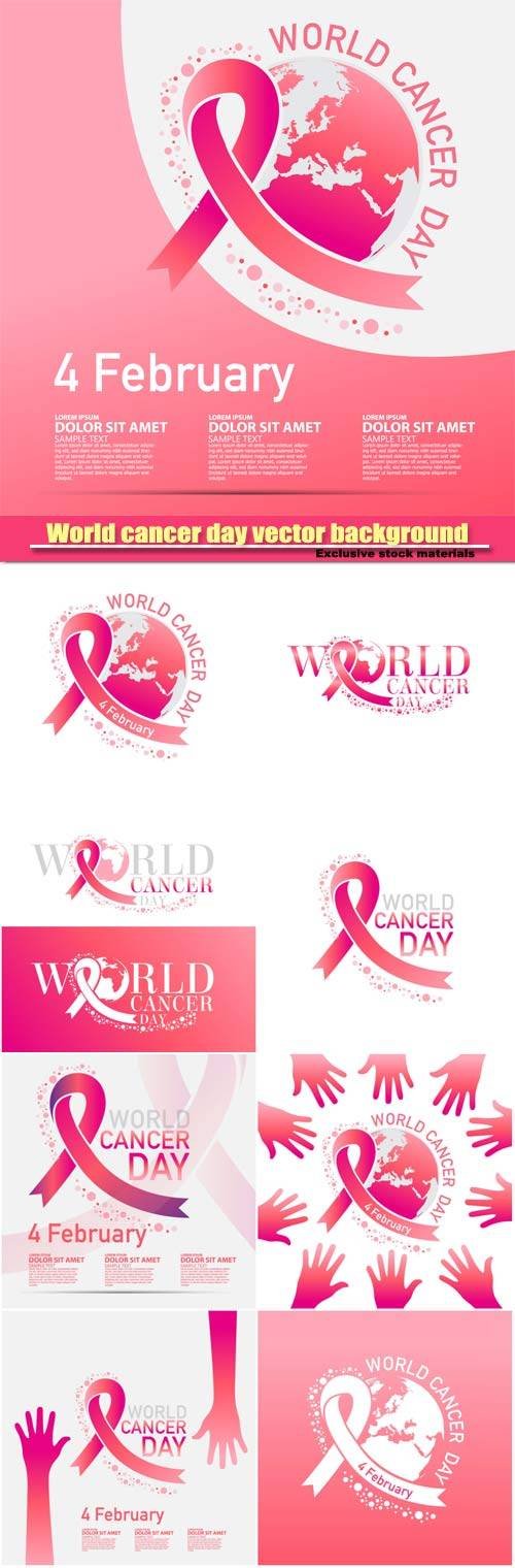 World cancer day vector background