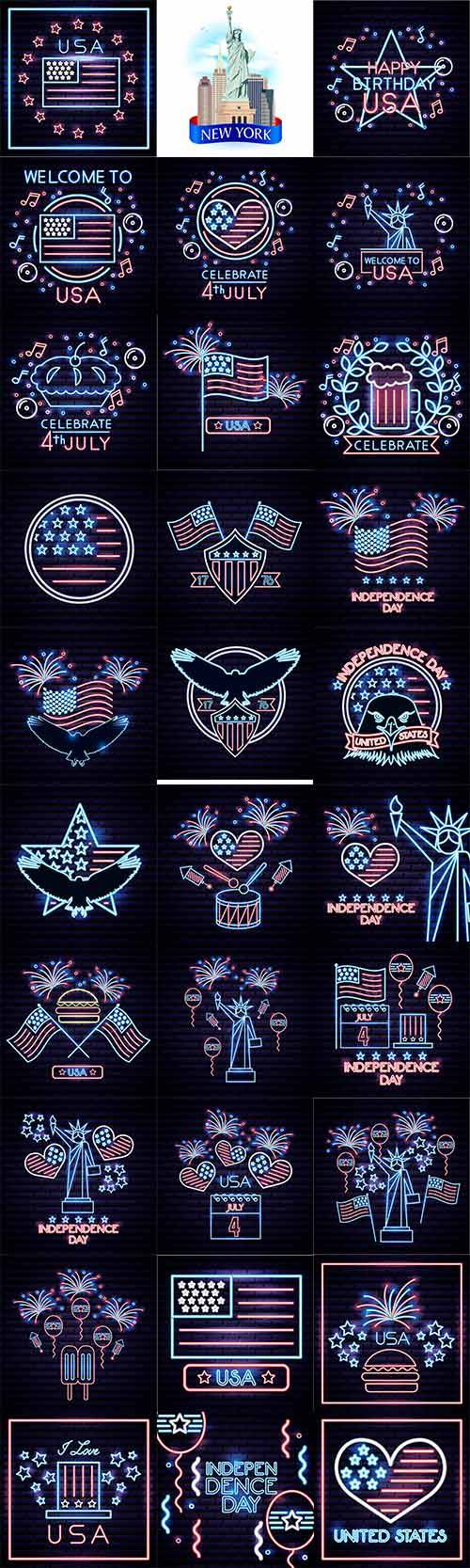 American Independence Day - Vector Graphics